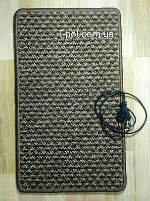 Нагревательный коврик для ног и сушки обуви коричневый 50см*30см, фото 2
