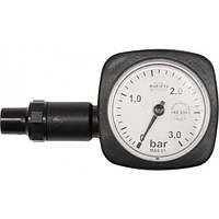 Манометр шинный VOREL круглый: 0,5-3,0 бар, V-82611