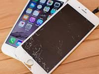 Замена разбитого стекла,  iphone 6S+ переклейка на снятом дисплеи