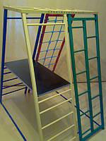 Детский спортивный комплекс Юнга 2в1 ( шведская стенка ) полная комплектация ( спортивний куточок ), фото 1