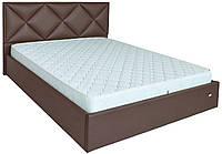Кровать двуспальная Лидс металл, да, 160х200 кожзам Мадрид 15