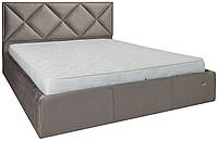 Кровать двуспальная Лидс металл, да, 160х200 велюр Миссони 008
