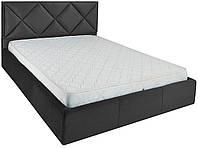 Кровать двуспальная Лидс металл, да, 160х200 велюр Миссони 009