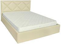 Кровать двуспальная Лидс металл, да, 160х200 кожзам Флай 2207