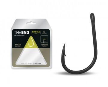 Крючок карповый, карповый крючок, крючок для рыбалки, крючок карповый Delphin THE END  №4 ( вайт гейп) 10 шт.