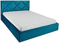 Кровать двуспальная Лидс металл, да, 160х200 велюр Миссони 016