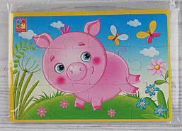 Пазлы Мягкие А5: Свинка VT1103-60 Vladi Toys Украина