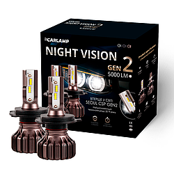 Светодиодные автолампы Carlamp H4 Led Night Vision Gen2 5000 Lm (NVGH4)
