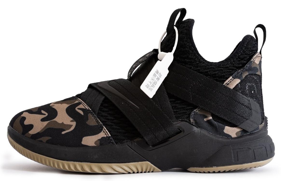 c409aab0 Баскетбольные кроссовки Nike LeBron James XII (в стиле Найк Леброн)  камуфляжные - Anyshoes —
