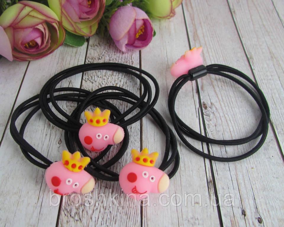 Резинки для волос Свинка Пеппа 30 шт/уп