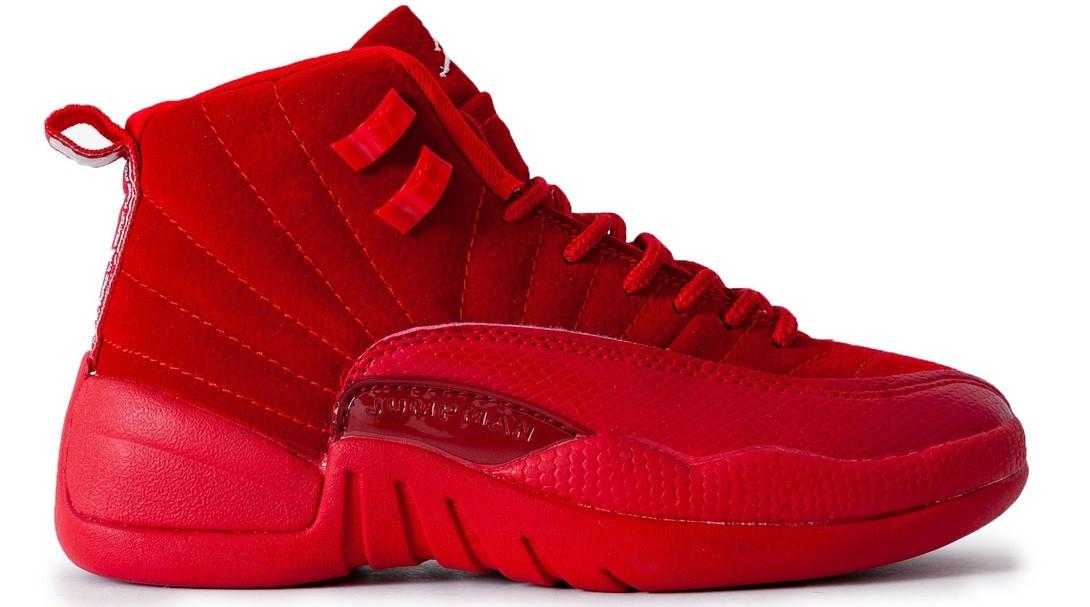 d03d770b Баскетбольные женские кроссовки Nike Air Jordan 12 (в стиле Найк Аир  Джордан) красные
