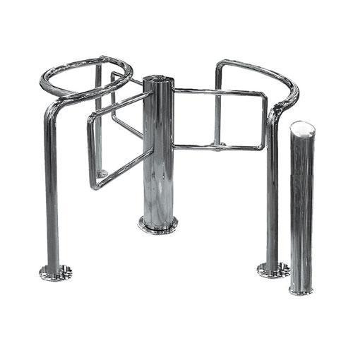 Полуростовой роторный турникет Star-TS, полированная нержавеющая сталь