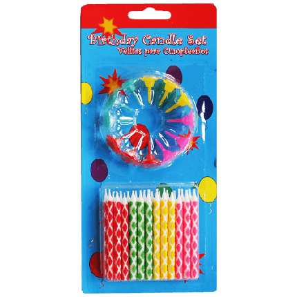 """Свечи в торт с подставками """"разноцветные ромбы"""" 24 шт., фото 2"""