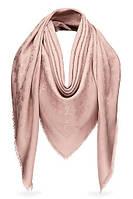 Женский платок Louis Vuitton Monogram (в стиле Луи Витон) светло-бежевый