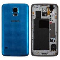 Корпус для смартфону Samsung G900H Galaxy S5, блакитний