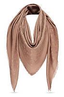 Женский платок Louis Vuitton Monogram (в стиле Луи Витон) капучино