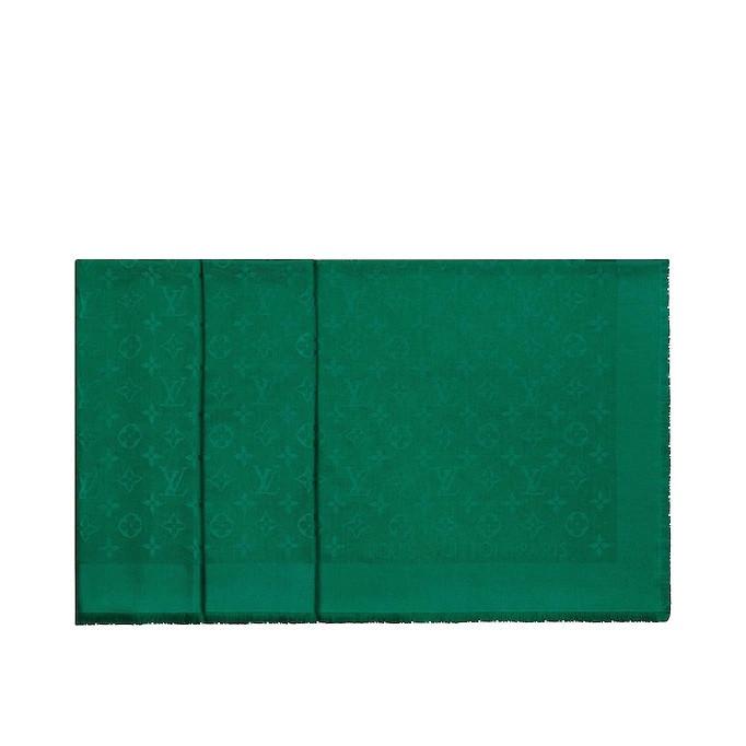 Женский платок Louis Vuitton Monogram (в стиле Луи Витон) зеленый, фото 2