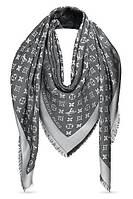 Женский платок Louis Vuitton Monogram (в стиле Луи Витон) черный
