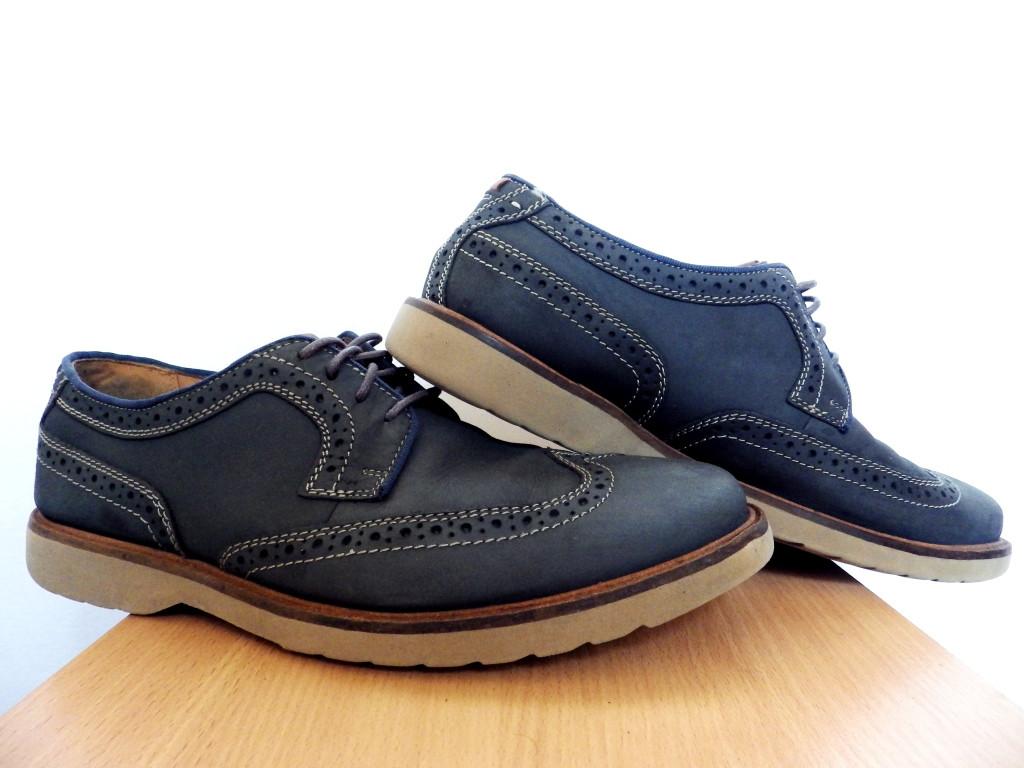 Мужские кожаные броги Clarks 100% Оригинал р-р 44 (28,5 см) (сток, б/у) туфли