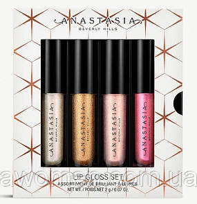 "Набор блесков для губ Anastasia Beverly Hills ""Mini Lip Gloss Set Holiday (NEW!)"
