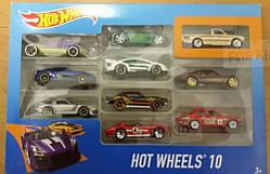 Машинки Hot Wheels Подарочный набор из 10 машинок