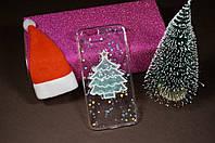 Чехол бампер силиконовый Apple iPhone 7/8 айфон 7 Новогодняя ёлка