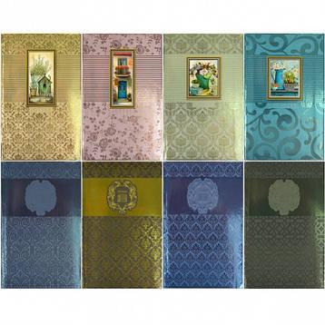 Блокнот В6 «Мандарин» 80 листов, интегральная обложка, метал., фото 2