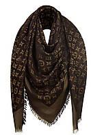 Женский платок с люрексом Louis Vuitton Shine Monogram (в стиле Луи Витон) коричневый
