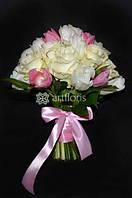 Свадебные букеты невесты, цветочные композиции на столы, арка из цветов, украшение бокалов, бутоньерки, оформление салфеток цветами