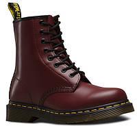 Женские ботинки Dr. Martens Smooth красные с искусственной кожей fd7f4211bc5ab