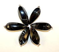 Кулон из черно- белого агата