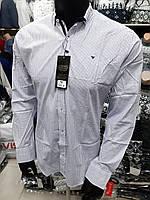 Мужская приталенная рубашка с длинным рукавом