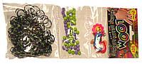 Набор Трио для плетения браслетов  сиреневый в зеленую точечку (Rainbow Loom)