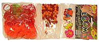 Набор Трио для плетения браслетов  оранжево-красный (Rainbow Loom)