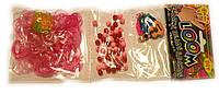 Набор Трио для плетения браслетов  розовый желейный (Rainbow Loom)
