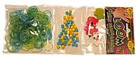 Набор Трио для плетения браслетов  желто-голубой желейный (Rainbow Loom)