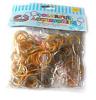 Набор  резиночек золото/серебро для плетения браслетов (Rainbow Loom)