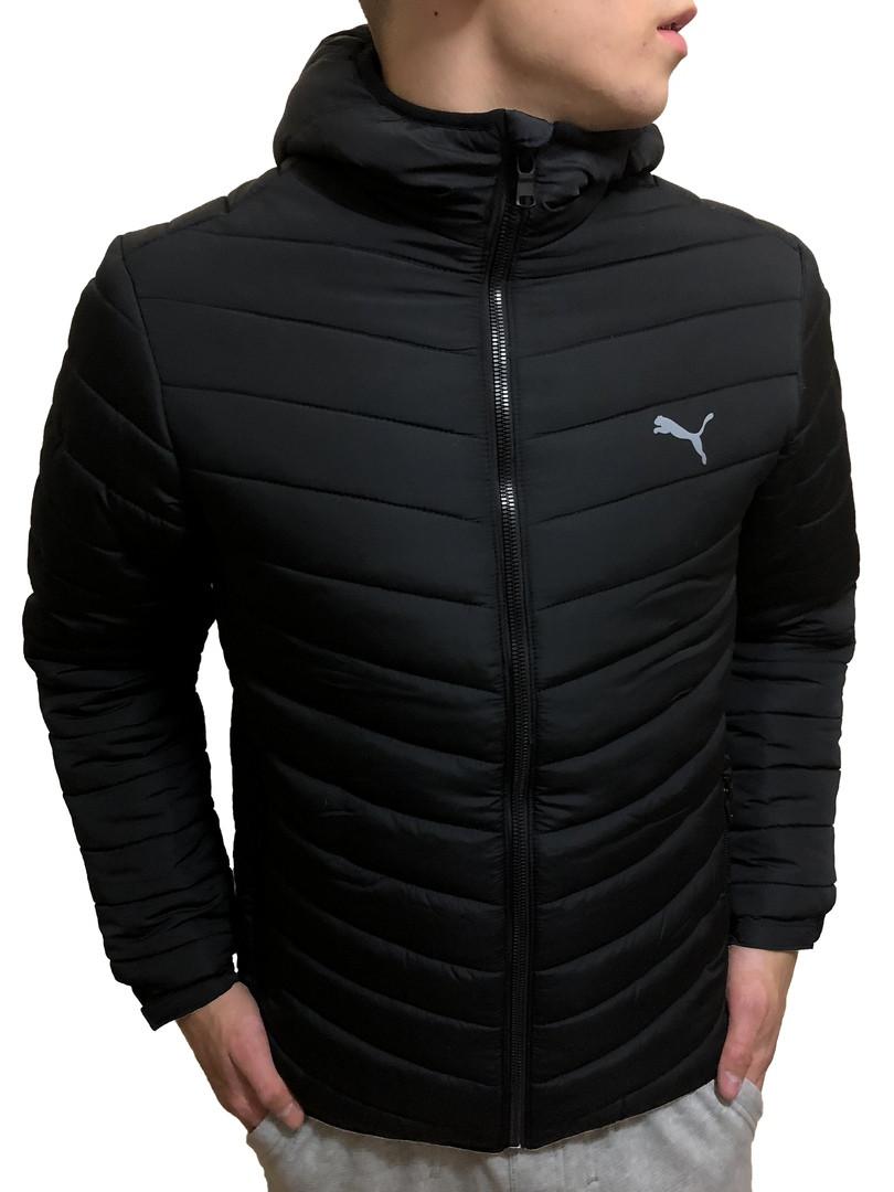 Мужская теплая зимняя куртка Puma темно-синего цвета. Ваш лучший выбор на  зиму! 9ad2b33a598