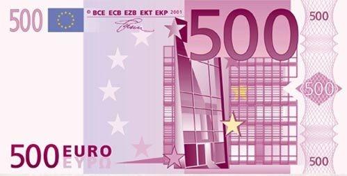 """Съедобные деньги"""" 1 купюра 500Евро на А4"""" Галетте -00509"""