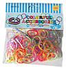 Набор разноцветных желейных  резиночек для плетения браслетов (Rainbow Loom)