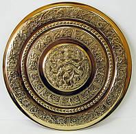 Тарелка бронзовая настенная