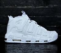 e1f0a506 Nike Air More Uptempo Triple White | женские и мужские кроссовки; белые;  кожаные