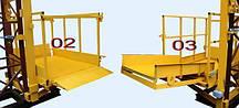 Висота Н-87 метрів. Вантажні щоглові підйомники, Будівельний підйомник з висувним лотком 1 тонна, 1000 кг., фото 3