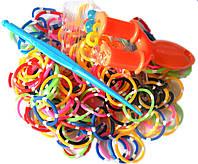 Набор разноцветных в точечку резиночек для плетения браслетов (Rainbow Loom)