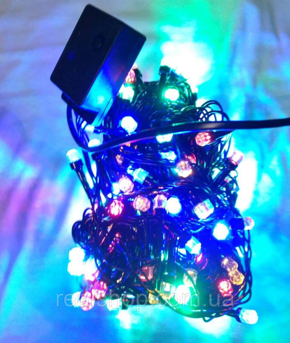 Новогодняя гирлянда Конус 8мм LED 200 RGB (200 светодиодов)  Многоцветная