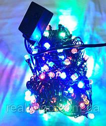Новогодняя гирлянда Конус 8мм LED 300 RGB (300 светодиодов)  Многоцветная