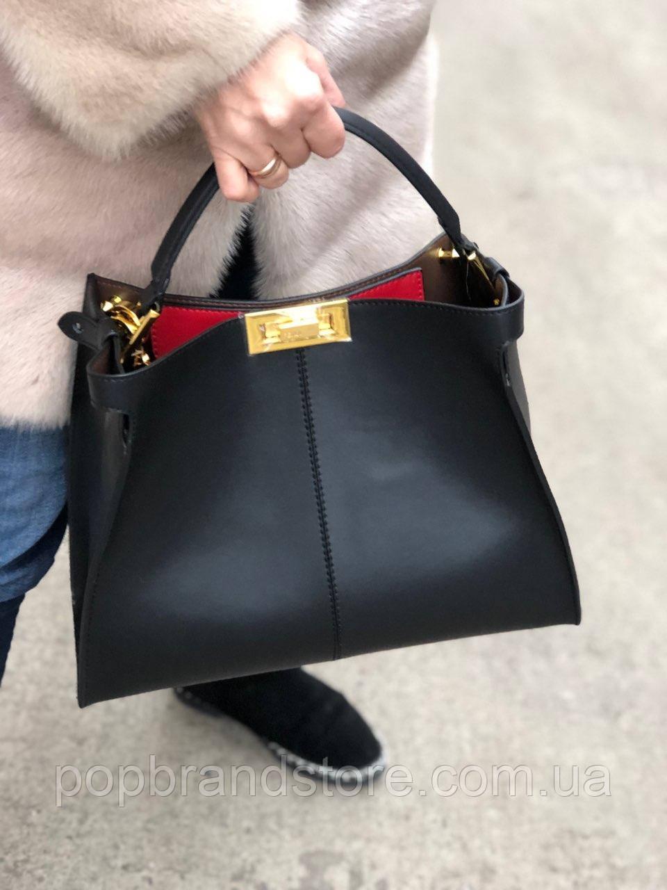 aacb707d2132 Стильная женская сумка FENDI 32 см (реплика) - Pop Brand Store | брендовые  сумки