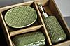 Подарок в коробке набор в ванную из 3х предметов Green Lux