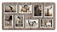 """Фоторамка коллаж """"Love"""" 65х34 см"""