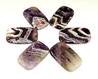 Кулон из  аметиста , прямоугольник